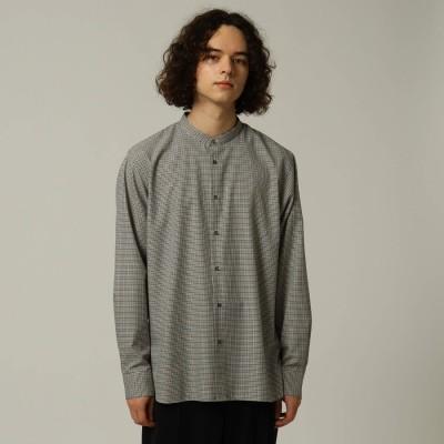 ティーケー タケオ キクチ tk.TAKEO KIKUCHI TRチェックバンドカラーシャツ (ブラック)