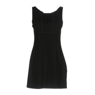 ERMANNO DI ERMANNO SCERVINO ミニワンピース&ドレス ブラック 40 コットン 95% / ポリウレタン 5% ミニワンピ