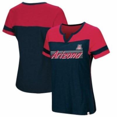 Colosseum コロセウム スポーツ用品  Colosseum Arizona Wildcats Womens Navy Coach V-Notch T-Shirt
