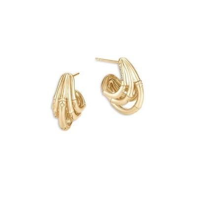 ジョン・ハーディー レディース ピアス・イヤリング アクセサリー 18K Yellow Gold Bamboo Hoop Earrings