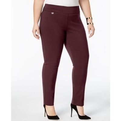 アルファニ カジュアルパンツ ボトムス レディース Plus & Petite Plus Size Tummy-Control Pull-On Skinny Pants,  New Wine