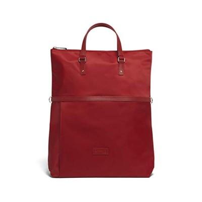 Lipault - Lady Plume Convertible Tote Bag - Top Handle Shoulder Handbag Backpack - Cherry Red 並行輸入品