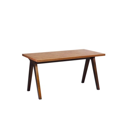 スチール脚風インダストリアルダイニングテーブル<4人用>