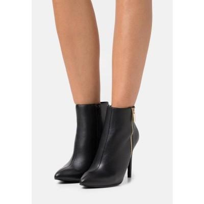 レディース 靴 シューズ LEATHER - High heeled ankle boots - black