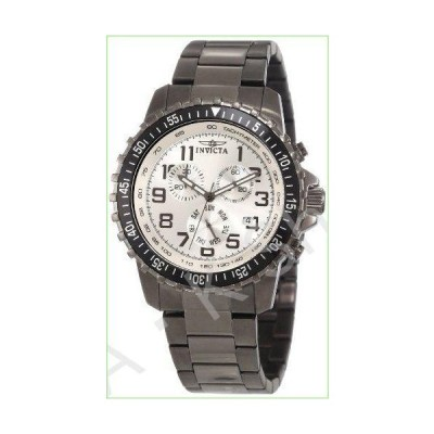 Invicta Men's 11370 Specialty Pilot Design Chronograph Silver Dial Gunmetal Stainless Steel Watch--並行輸入品--