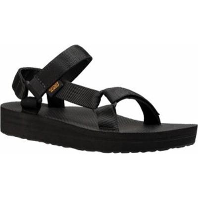 テバ レディース サンダル シューズ Women's Teva Midform Universal Walking Sandal Black Textile