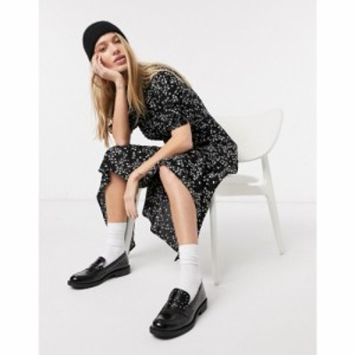 ゴースト Ghost レディース ワンピース ワンピース・ドレス Jenna Dress Print ブラック