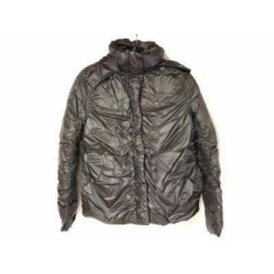 ダナキャラン DKNY ダウンジャケット サイズ4 XL レディース ダークグレー 冬物/フード【中古】20191225