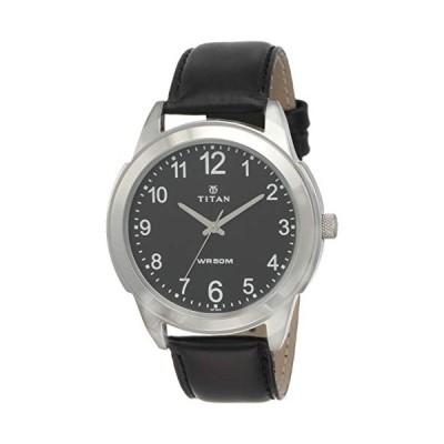 Titan Neo Men's Designer Watch - Quartz, Water Resistant, Leather Strap - Black Band and Black Dial 並行輸入品