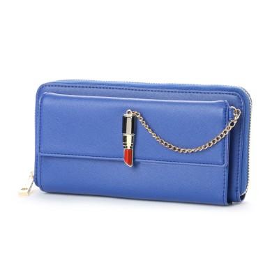 スパイラルガール SPIRAL GIRL 口紅型金具付き長財布 (ブルー)