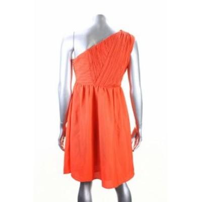ファッション ドレス Mm Couture New Orange One-Shoulder Dress Msrp
