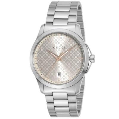グッチ GUCCI 腕時計 GタイムレスラウンドステンMウォッチ YA1264052ギフトラッピング無料
