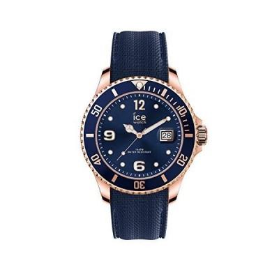 Ice-Watch - ICE steel Blue rose-gold - Blue men's wristwatch with metal strap - 017665 (Large) 並行輸入品