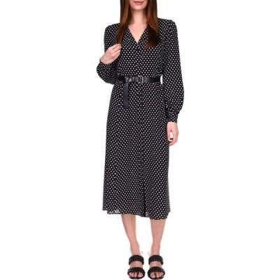 マイケル コース MICHAEL Michael Kors レディース ワンピース ワンピース・ドレス Logo Dot Kate Dress Black/White