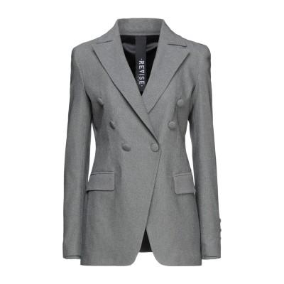REVISE テーラードジャケット グレー 42 レーヨン 73% / ポリエステル 23% / ポリウレタン 4% テーラードジャケット