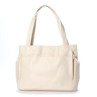 ジーラ GeeRA 【多収納】10ポケットトートバッグ (アイボリー)
