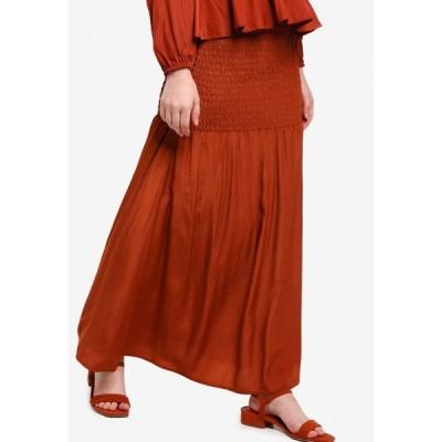 ルブナ Lubna レディース ロング・マキシ丈スカート スカート Smocked Flare Skirt Brown