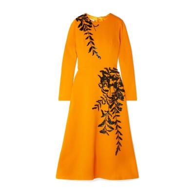 オスカー・デ・ラ・レンタ OSCAR DE LA RENTA 7分丈ワンピース・ドレス オレンジ 4 バージンウール 94% / ポリウレタン® 5