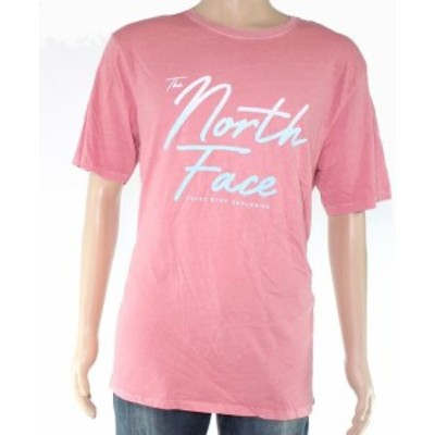 North Face ノースフェイス ファッション トップス The North Face Mens T-Shirt Faded Pink Size Large L Graphic Logo Tee