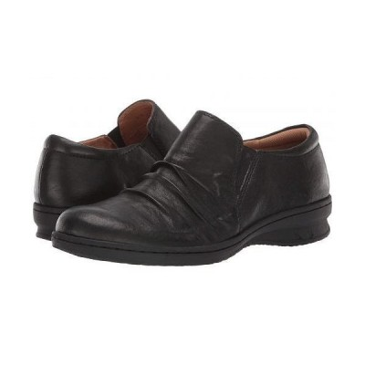 Comfortiva コンフォーティヴァ レディース 女性用 シューズ 靴 ローファー ボートシューズ Florian - Black Oleoso