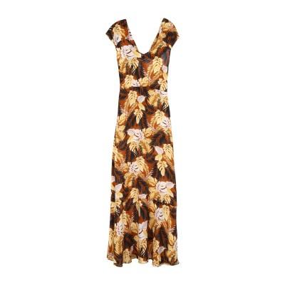 アティックアンドバーン ATTIC AND BARN ロングワンピース&ドレス ブラウン 40 シルク 100% ロングワンピース&ドレス