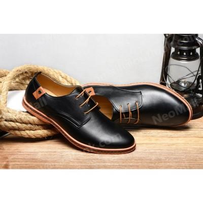 人気商品 ☆ メンズ ビジネス レザー シューズ ブラック サイズ 24.0〜29.0cm  革靴 靴 カジュアル 屈曲性 通勤 軽量 仕事 【610】