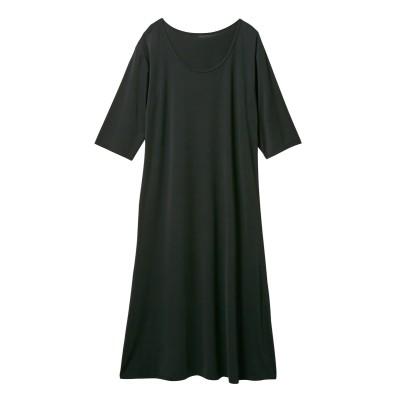 超冷感 ロングルームワンピース(接触冷感・吸汗速乾・UVカット)(L) (パジャマ・ルームウェア)Pajamas