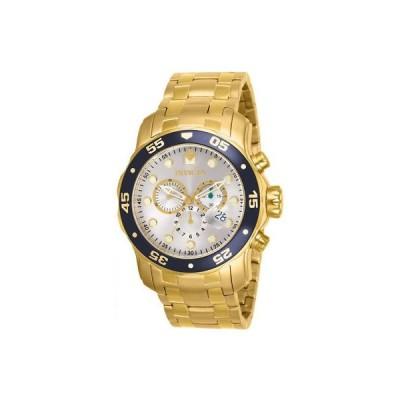 インヴィクタ Invicta メンズ 48ミリ ゴールド スチール ブレスレット ケース フレーム フュージョン クォーツ 腕時計 80067