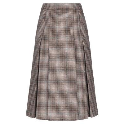 セリーヌ CELINE 7分丈スカート カーキ 36 ウール 100% 7分丈スカート