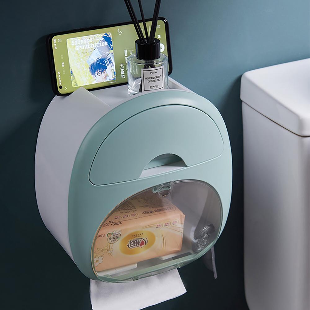 *簡約浴廁紙巾收納盒-綠