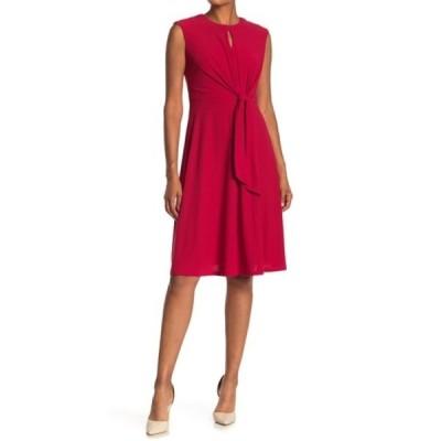 ロンドンタイムス レディース ワンピース トップス Keyhole Tie Front Midi Dress ROSE