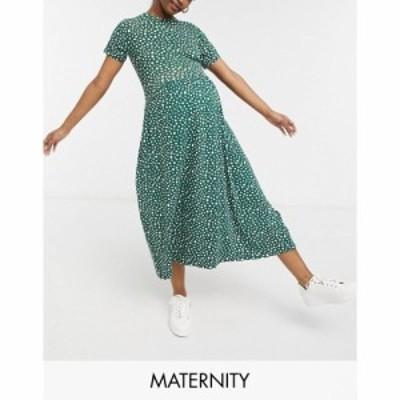 ウェンズデーガール Wednesdays Girl Maternity レディース ワンピース ミドル丈 ワンピース・ドレス Midi Smock Dress In Smudge Spot P