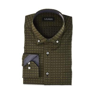 [ヤマキ] [ユーピー・レノマ]形態安定加工ワイシャツ|YED522 [200-L84] YED522 メンズ 945-茶-ボタンダウン 日