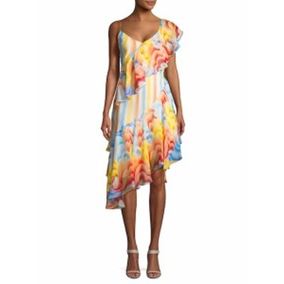 テンパーリーロンドン レディース ワンピース Silk Asymmetric Ruffle Dress