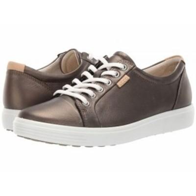 ECCO エコー レディース 女性用 シューズ 靴 スニーカー 運動靴 Soft 7 Sneaker Black Stone Metallic Cow Leather【送料無料】