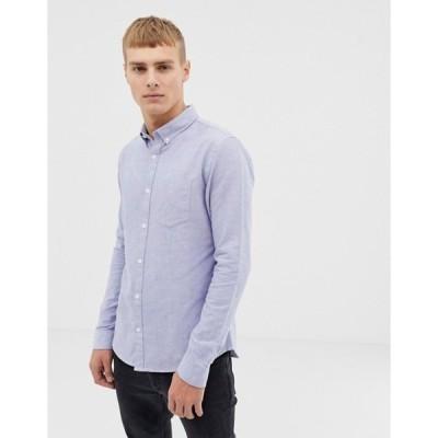 ニュールック メンズ シャツ トップス New Look oxford shirt in regular fit in light blue