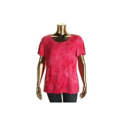 トップス&ブラウス JM Collection JM コレクション 1838 レディース ピンク Embellished カジュアル Top Shirt Plus 3X BHFO
