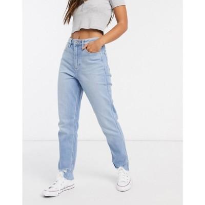 ホリスター Hollister レディース ジーンズ・デニム ボトムス・パンツ mom jeans in light wash blue ライトブルー