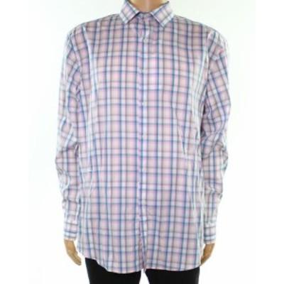 ファッション ドレス Bar III NEW White Mens Size 15 1/2 Gingham Regular Fit Dress Shirt