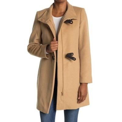 ラルフローレン レディース ジャケット&ブルゾン アウター Tab Front Closure Wool Blend Coat CAMEL