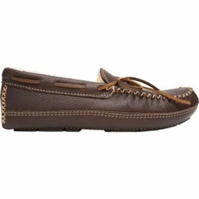 ミネトンカ Minnetonka メンズ スリッポン・フラット モカシン シューズ・靴 Sheepskin Moose Moccasin Slippers Chocolate
