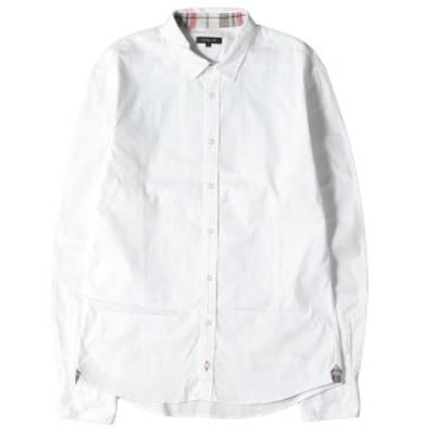 LOVELESS ラブレス シャツ チェックスカルパッチ付き コットン ボタン シャツ ホワイト 2 【メンズ】【中古】【K2906】