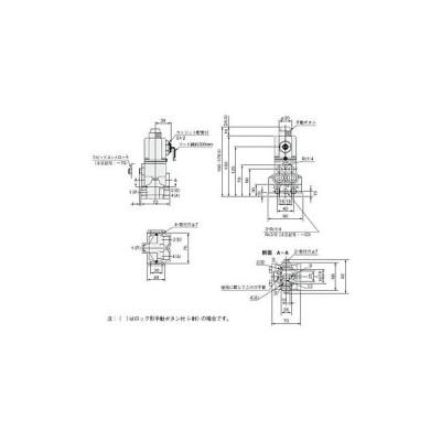 電磁弁(丸形)254シリーズ コガネイ 254-4E1 AC100