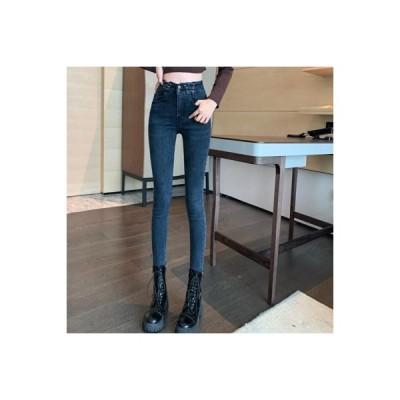 【送料無料】ハイウエスト 手厚い 女性のジーンズ 秋冬 着やせ 着やせ 何でも似合う | 364331_A64095-4075318