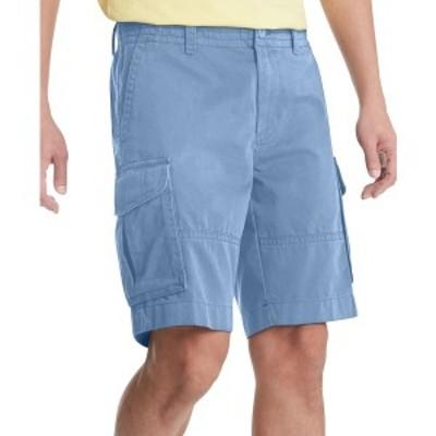 """トミー ヒルフィガー メンズ カジュアルパンツ ボトムス Men's 10"""" Regular-Fit Cargo Shorts Captains Blue"""