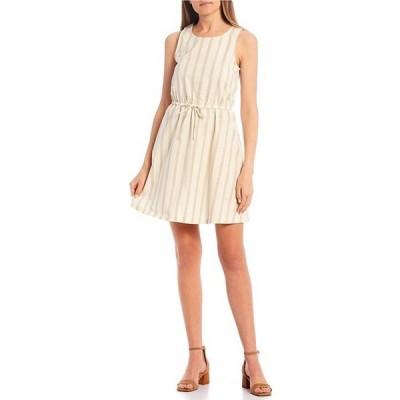 カッパーキー レディース ワンピース トップス Stripe Tie Waist Dress