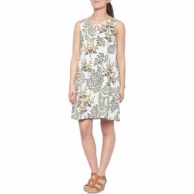 シンシア ローリー Cynthia Rowley レディース ワンピース ノースリーブ ワンピース・ドレス Print Trapeze Dress - Linen. Sleeveless B