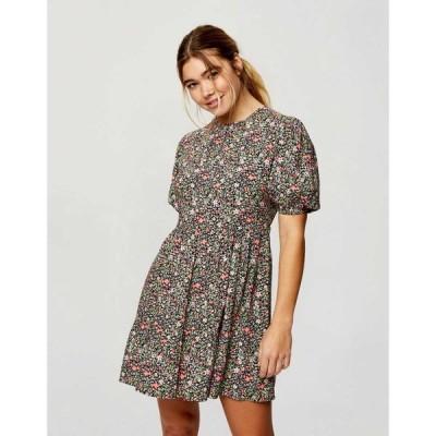 ミス セルフリッジ Miss Selfridge レディース ワンピース ワンピース・ドレス cluster print tea dress in black ブラック