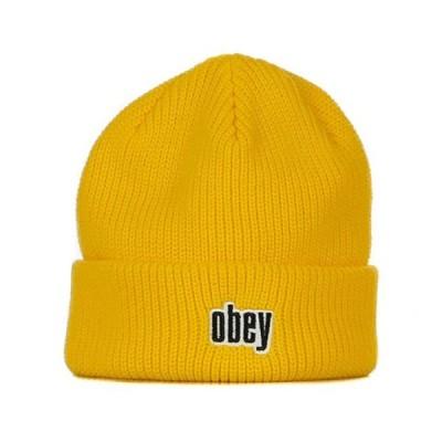 OBEY(オベイ)ニットキャップ ビーニー 帽子 Jungle Beanie Sulphur スケボー SKATE SK8 スケートボード HARD CORE PUNK ハードコアパンク