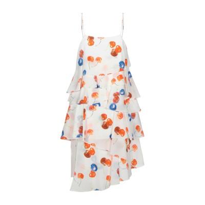エムエスジーエム MSGM ミニワンピース&ドレス ホワイト 42 シルク 100% ミニワンピース&ドレス